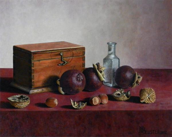 Mangostanfrüchte mit Nüssen