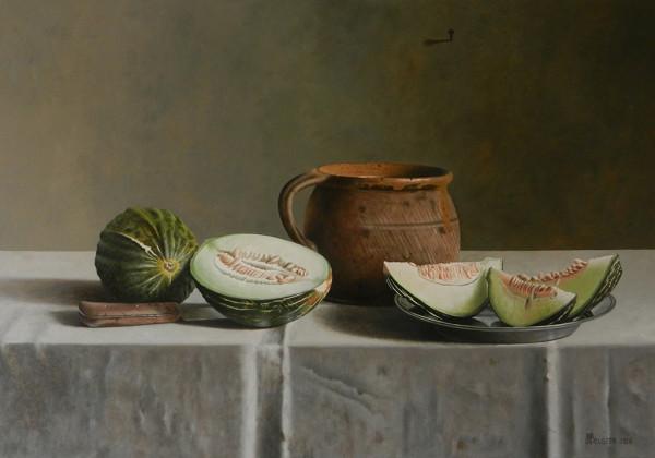 Grüne Honigmelone